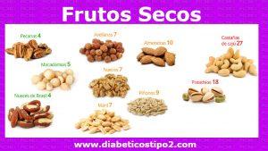 Frutos secos para diabéticos tipo 2Las nueces esta en la lista de frutos secos pueden ser muy útiles para tratar la diabetes.