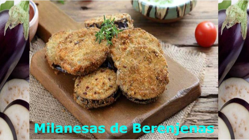 Milanesa de berenjena Esta receta llega gracias al pedido de nuestros seguidores que desean milanesa de berenjena para diabéticos.
