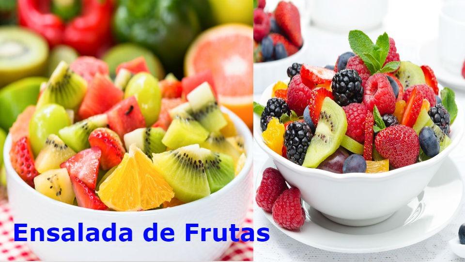 Ensalada de frutas de colores para diabéticos Todo diabético debe consumir 1 ensalada de frutas al menos 1 a 2 veces por semana.