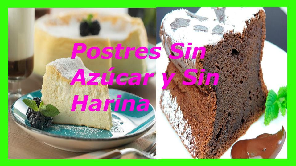 Postres sin azúcar y sin harina paso a paso Estas recetas son fáciles de preparar y para personas con diabetes que no quieran azúcar ni harina.