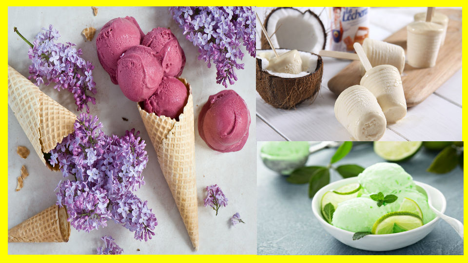 Helados de frutas de temporadas El helado es el postre predilecto para los días calurosos y, al igual que con el resto de postres, tienen su alternativa