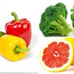 El color de las frutas y verduras para Diabéticos